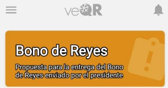 registro bono dia reyes carnet patria codigo veqr